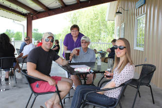 Dine on the patio at Broad Brook Brewing Company